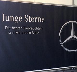 Mercedes – Spanntuch – Zeltplane B1