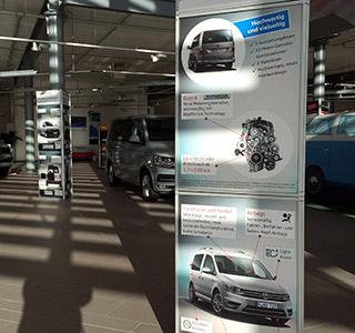 Auto VW Stele