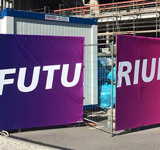 Bauzaun Futurium Plane