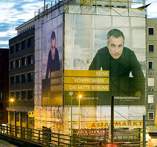 Büroflächen Berlin Gerüstbanner