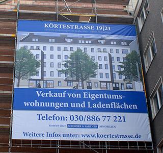 Wohnen Berlin Gerüstbanner
